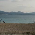 名護市営球場の側にあるビーチ